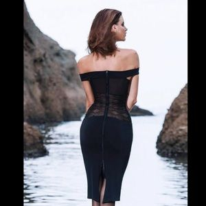 Fetish Factory Midi Zita Black Mesh Dress XS/S